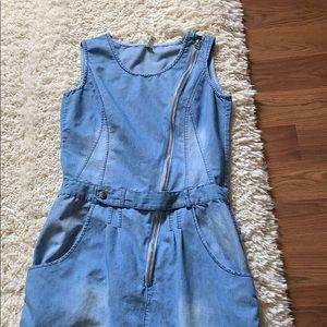 Denim Maxi Dress-S